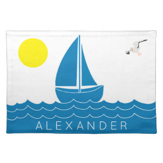 Sun and Sailboat Placemat