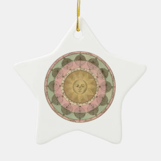 Sun and Seasons Detail from Antique Map circa 1780 Christmas Tree Ornaments
