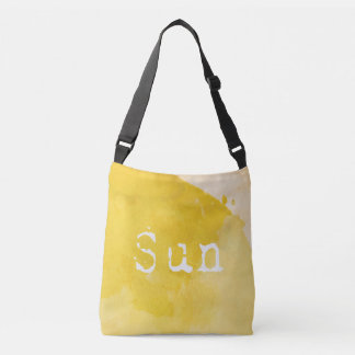 SUN Bathed Yellow Watercolor Crossbody Bag