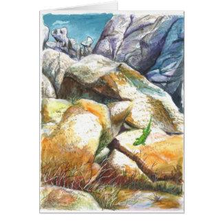 Sun bathing Gecko Card