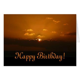 Sun Behind Clouds Birthday Card (Blank Inside)