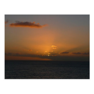 Sun Behind Clouds II Seascape Photography Postcard