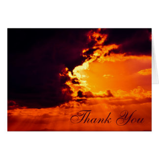 Sun Behind Clouds Thank You Card