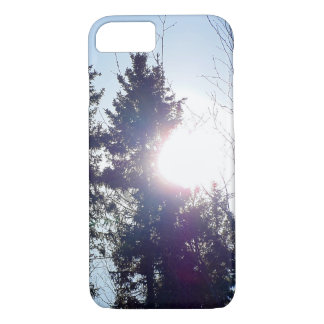 Sun Behind the Trees iPhone 8/7 Case