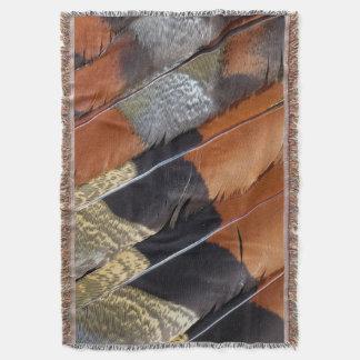 Sun Bittern feather detail Throw Blanket