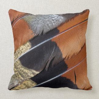 Sun Bittern feather detail Throw Pillow