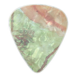 Sun Blood Trees Pearl Celluloid Guitar Pick
