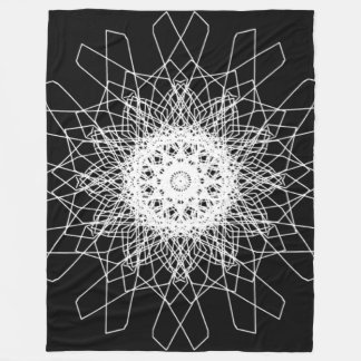 SUN BLOSSOM MANDALA Large Fleece Blanket