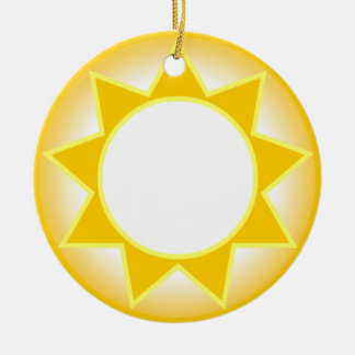 Sun Ceramic Ornament