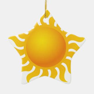 Sun Ceramic Star Ornament