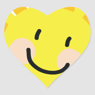 Sun Child Drawing Heart Sticker