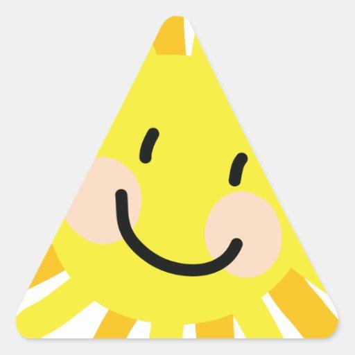 Sun Child Drawing Sticker