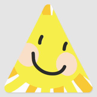 Sun Child Drawing Triangle Sticker
