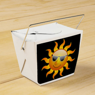 sun chinese food box wedding favor boxes
