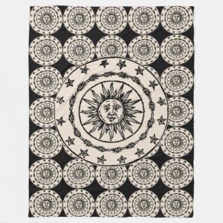 Sun Circle Fleece Blanket