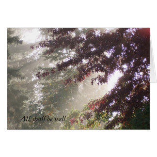 Sun, Cobweb, and Plum Tree Card