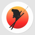 Sun cool skiing stickers