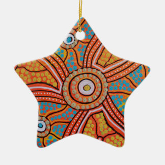 Sun Corroboree Ceramic Ornament
