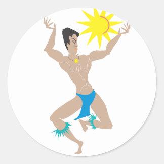 Sun Dancer Round Sticker