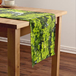 Sun-Dappled Leaves in the Forest Short Table Runner