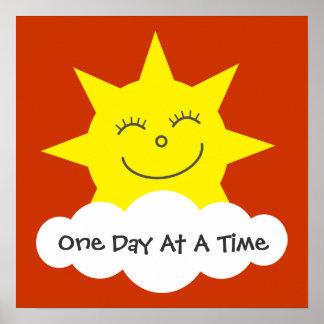 Sun de sourire une affiche de récupération de jour