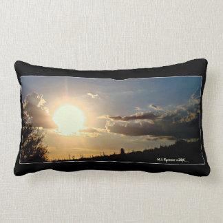 Sun Down in New River Lumbar Pillow