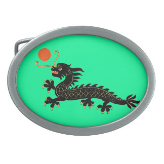Sun Dragon Buckle Oval Belt Buckle