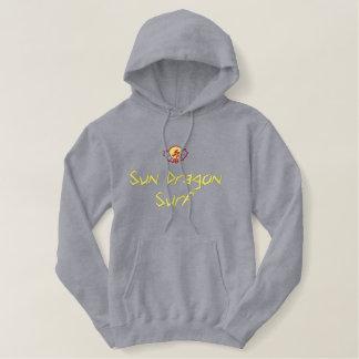 Sun Dragon Surf Embroidered Hoodie