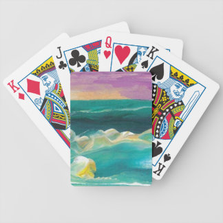 Sun Drama in the Ocean Waves Seascape Bicycle Playing Cards
