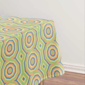 Sun Drenched Circles of Color Pattern Tablecloth