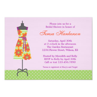 Sun Dress Bridal Shower Invitation