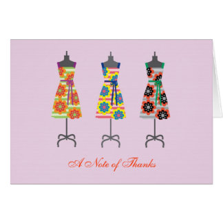 Sun Dress Thank You Note Card