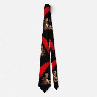 Sun drôle Meerkat futé sous le parapluie, Cravate