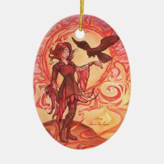 Sun Elf Ceramic Ornament