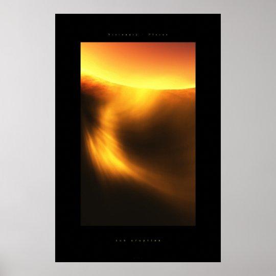 sun eruption poster