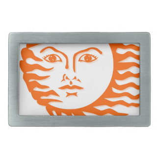 sun face belt buckles