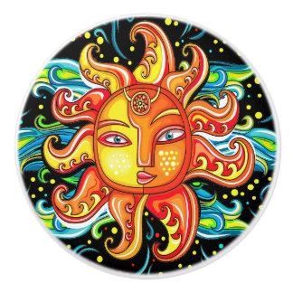 Sun Face Ceramic Knob rev