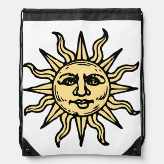 Sun Face Drawstring Bag