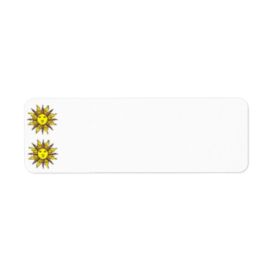 Sun Face Label