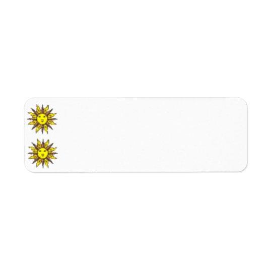 Sun Face Label Return Address Label