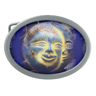 sun face/ moon face belt buckle
