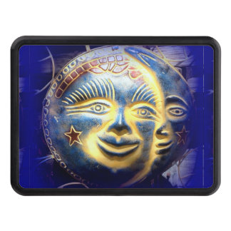 sun face / moon face hitch cover