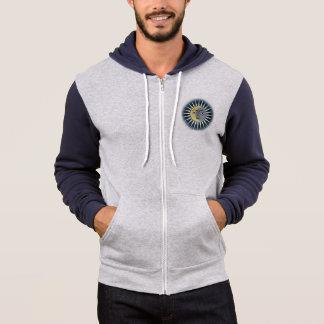 Sun Face zippered hoodie