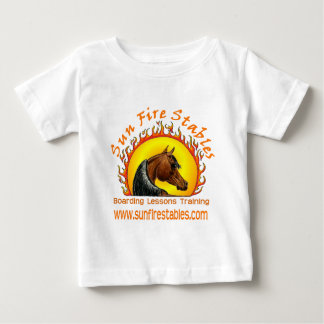 Sun Fire Stables Logo on Front Baby T-Shirt