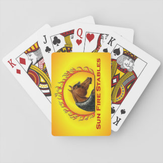 Sun Fire Stables Playing Cards
