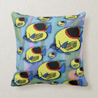 Sun Fish & Seaweed Throw Pillow