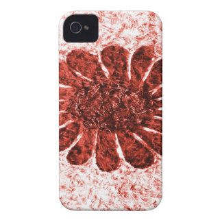 sun flower in red color iPhone 4 Case-Mate cases