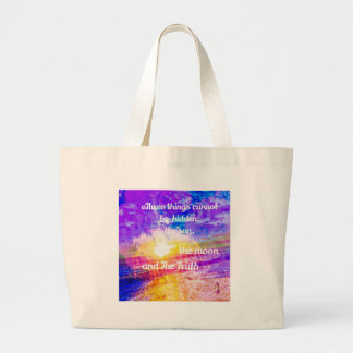 Sun ,Flowers and inspirational Buddha message Large Tote Bag