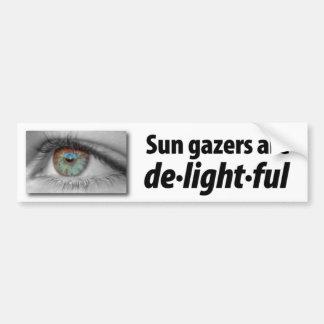 Sun gazers are de.light.ful bumper sticker