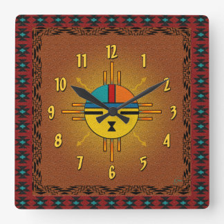 Sun - Giver of Life Square Wall Clock